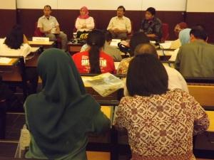 suasana forum diskusi tepung mocaf sehat shyar-i di prasetya mulya